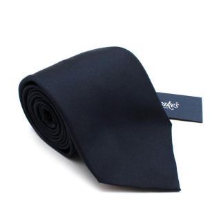 Drake's Navy Silk Cornucopia Tie