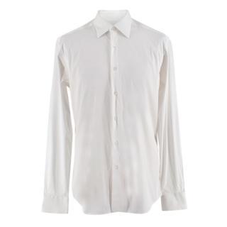 Prada White Textured Cotton blend Shirt