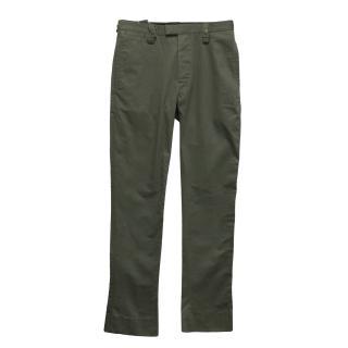 New J.Lindeberg khaki cotton trousers