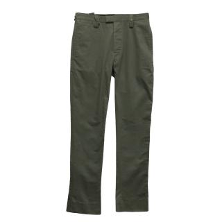 New J.Lindeberg khaki cotton trousers