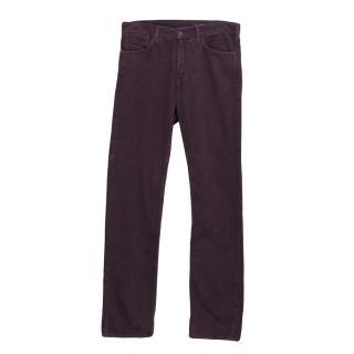 J.Lindeberg Purple corduroy jeans
