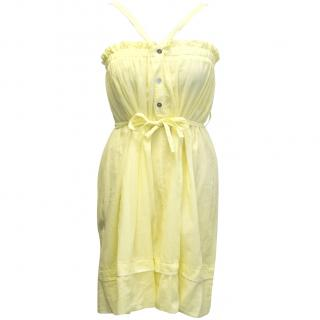 Hussein Chalayan white label yellow summer dress