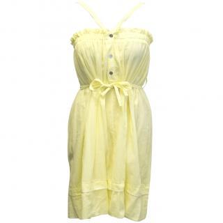 Hussein Chalayan white label yellow summer dress