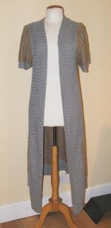 MALENE BIRGER long grey cardigan, size M
