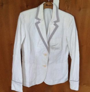 Lacoste white cotton blazer