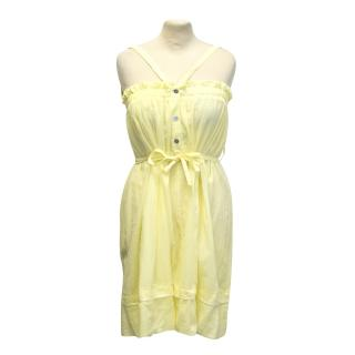 Hussein Chalayan yellow summer dress