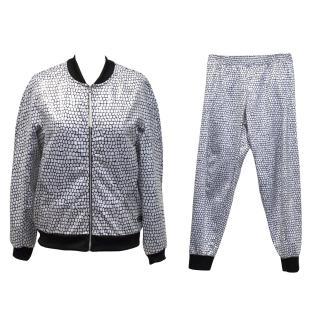 Adidas Original white and black print tracksuit