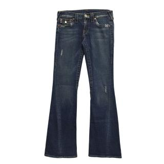 True Religion boot cut distressed jeans