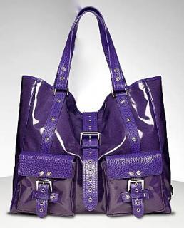 Purple Mulberry  Roxanne A4 Handbag