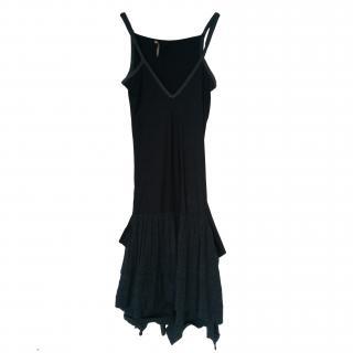 Marthe Francois Girbaud grey drop waist dress