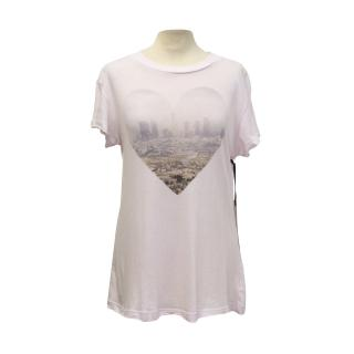 Wildfox 'Francesca Lia block pink city' tee