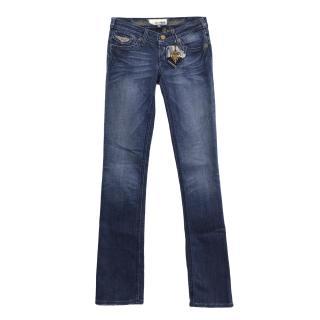 J&Company washed navy blue jeans