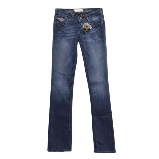 J&Company washed navy blue jeans
