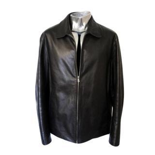 Hugo Boss Calfskin Leather Jacket EU52 Large Fashy RRP �640 black coat