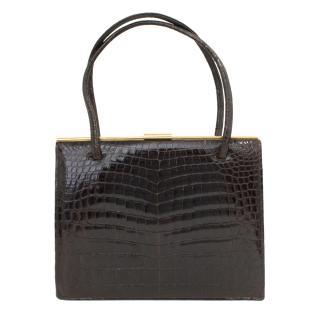 RW Forsyth of Glasgow & Edinburgh vintage crocodile purse bag