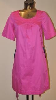 Jaeger bright pink cotton dress