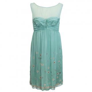 Philosophy di Alberta Ferretti turquoise dress
