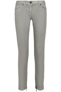ROBERTO CAVALLI Metallic-coated straight-leg jeans