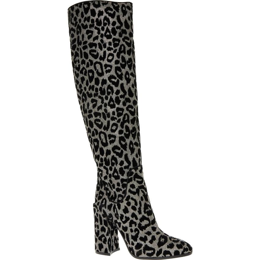 Dolce Gabbana Flocked Leopard Print