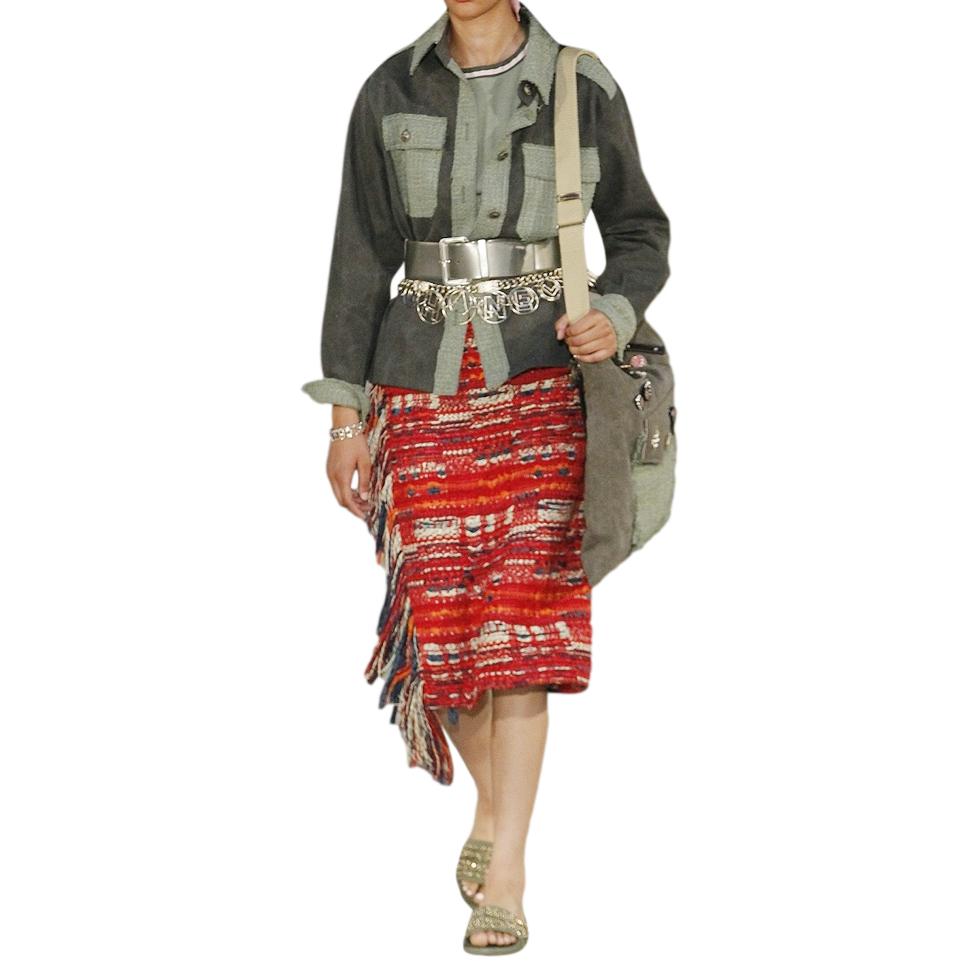 Chanel Khaki Tweed Cuba Collection Jacket