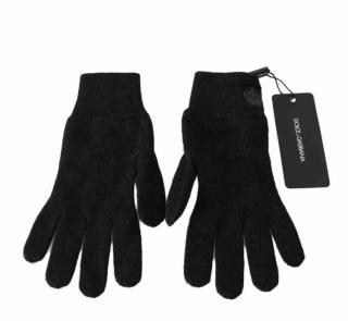 Dolce & Gabbana Black Cashmere Gloves