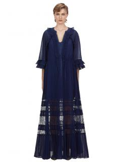 Self Portrait Indigo Ruffle Maxi Dress