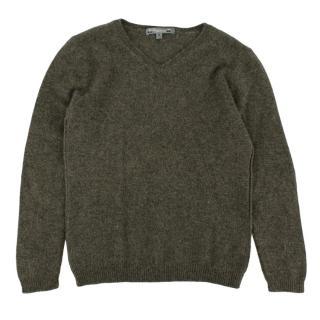 Bonpoint Green Cashmere Kids Sweater
