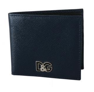 Dolce & Gabbana Blue Logo Bi-Fold Wallet