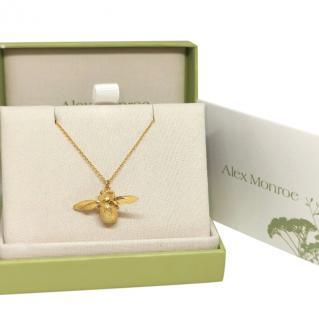 Alex Monroe Gold Vermeil Bumblebee Necklace