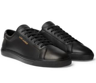 Saint Laurent Black Leather Andy Low Sneakers