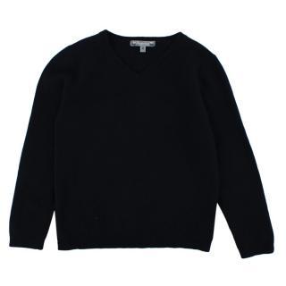 Bonpoint Navy V Neck Cashmere Sweater