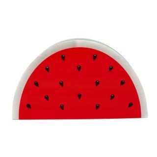Charlotte Olympia Red & Green Plexi Watermelon Clutch