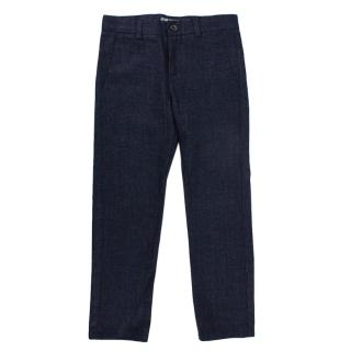 Bonpoint Navy Wool Tailored Trousers