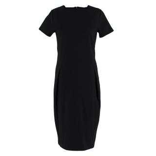 Iris & Ink Crepe Fitted Black Dress