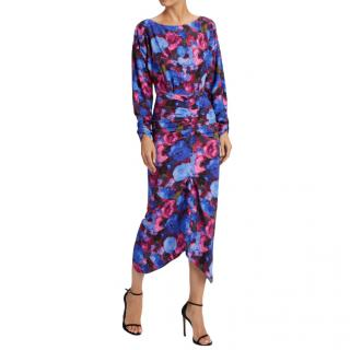 Ronny Kobo Emilia Floral Print Midi Dress
