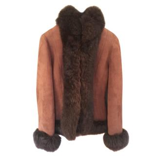 Ralph Lauren Black Label Shearling Lined Sheepskin Jacket