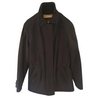 Loro Piana Navy Wool & Cashmere Blend Drawstring Storm Jacket