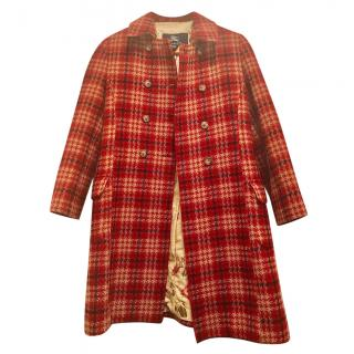 Burberry Girl's Red Wool Blend Coat