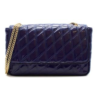 Brooks Brothers Quilted Patent Leather Cross-Body Bag