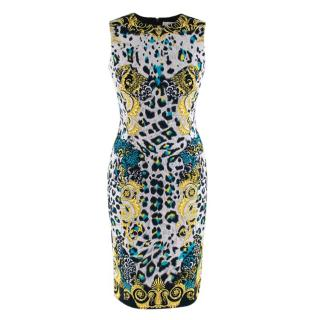 Versace Collection Baroque Leopard Print Dress