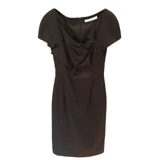 Dior Black Vintage Fitted Cocktail Dress