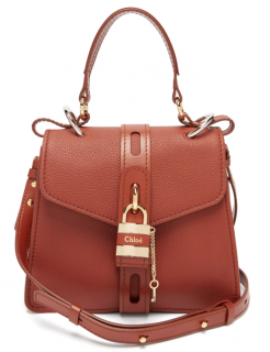 Chloe Tan Aby small leather shoulder bag