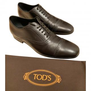 Tod's Black Leather Lace-Up Brogues