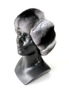 FurbySD Natural Chinchilla Fur Hat/Collar