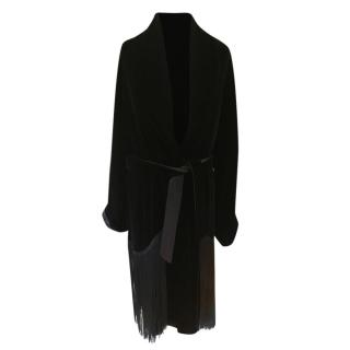 Ralph Lauren Black Label Velvet Fringed Dressing Gown