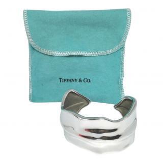 Tiffany & Co Sterling Silver Wide Leaf Cuff