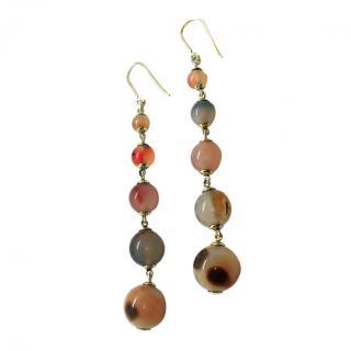 Fragments Botswana Agate Bead Drop Earrings