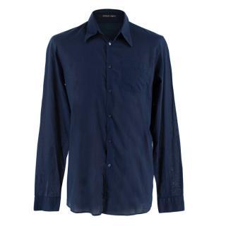 Emanuel Ungaro Navy Cotton Voile Shirt