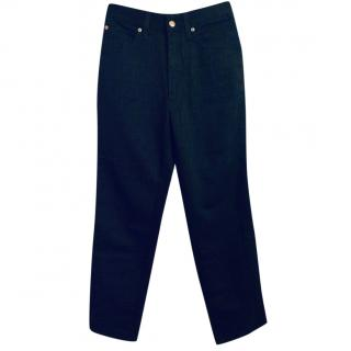 Fendi Monogram Black Straight Leg Jeans