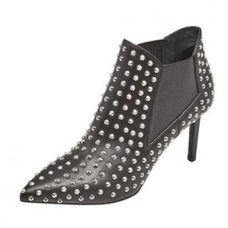 Saint Laurent Black Studded Ankle Boots